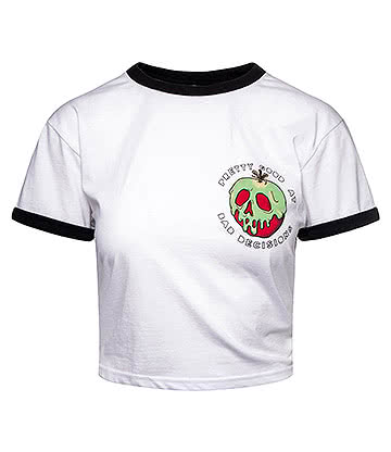 Cosmic Poison Apple Cropped T Shirt (White)