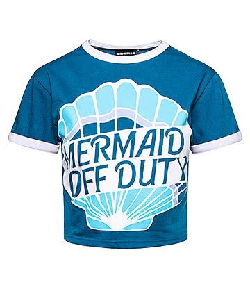 Cosmic Off Duty Cropped T Shirt (Blue)