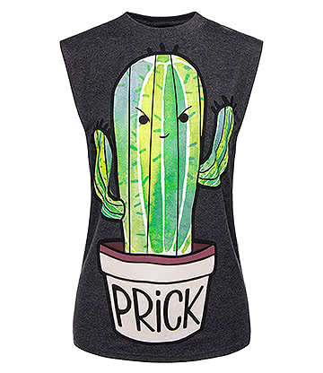 Cosmic Prickly Tank Top (Black)