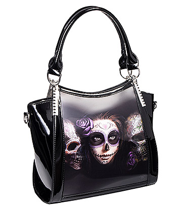 Anne Stokes Day Of The Dead 3D Handbag (Black)