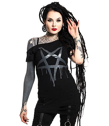 Heartless Pentacult Top (Black)