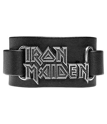Alchemy Rocks Iron Maiden Logo Wristband (Black)