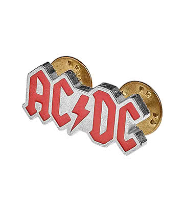 Alchemy Rocks AC/DC Logo Pin Badge (Red)