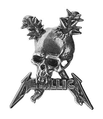 Alchemy Rocks Metallica Damage Inc Pin Badge (Silver)