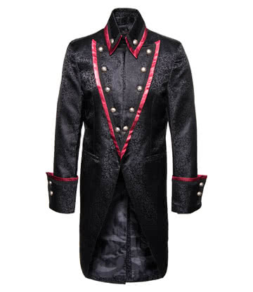 Pentagramme Long Coat (Black/Red)