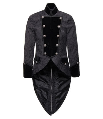 Pentagramme Brocade Coat (Black)