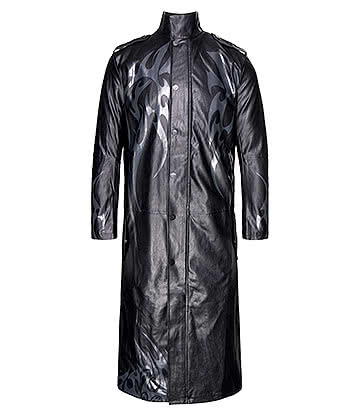 Spiral Direct Wolf Chi Trench Coat (Black)