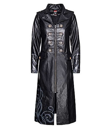 Spiral Direct Vampire's Kiss Trench Coat (Black)