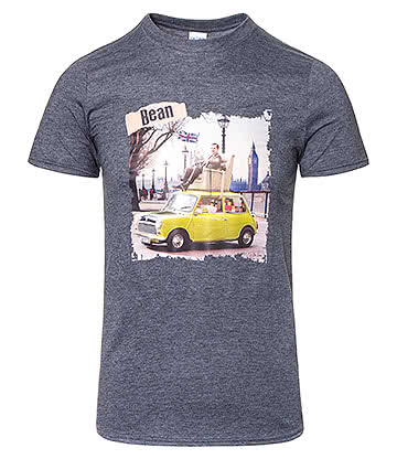 Mr Bean Car T Shirt (Charcoal)