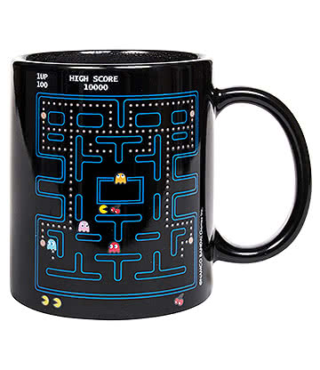Pac-Man Heat Changing Mug (Black)