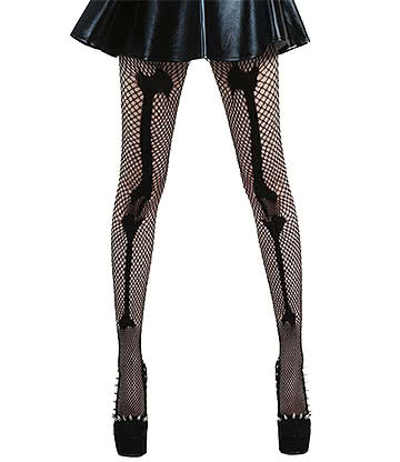 Pamela Mann Fishnet Bone Tights (Black)