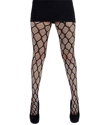 Pamela Mann Pothole Tights (Black)