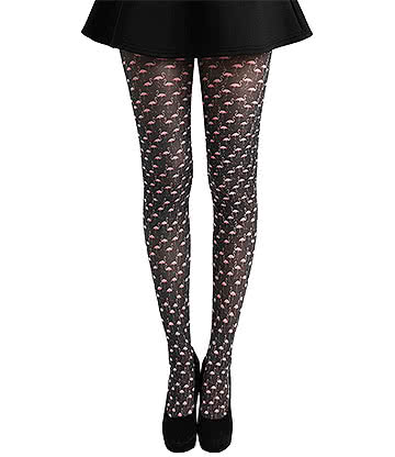 Pamela Mann Flamingo Tights (Black/Pink)