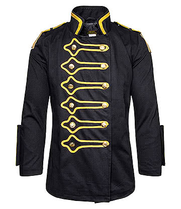 Golden Steampunk Drummer Jacket (Black)