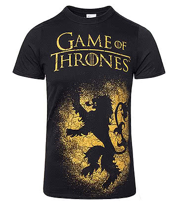 Game Of Thrones House Lannister Sigil T Shirt (Black)