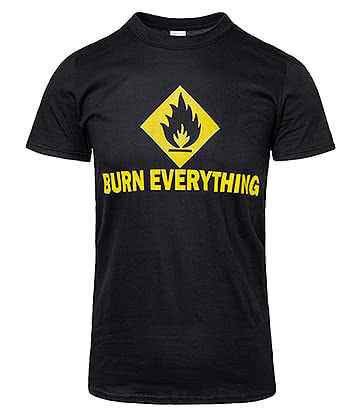 Teesbox Burn Everything T Shirt (Black)