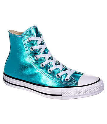 Converse All Star Metallic Hi Top Boots (Fresh Cyan)