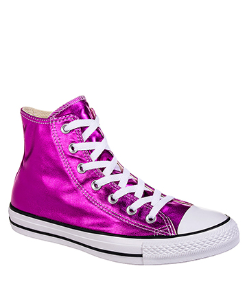 Converse All Star Metallic Hi Top Boots (Magenta Glow)