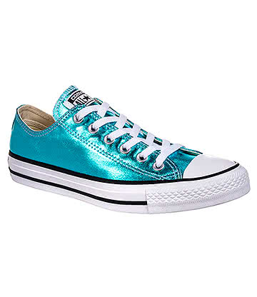 Converse All Star Metallic Ox Shoes (Fresh Cyan)