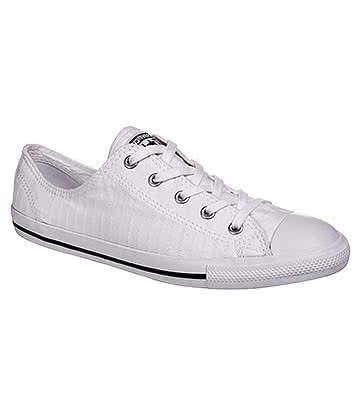 Converse All Star Dainty Ox Shoes (White/Black)