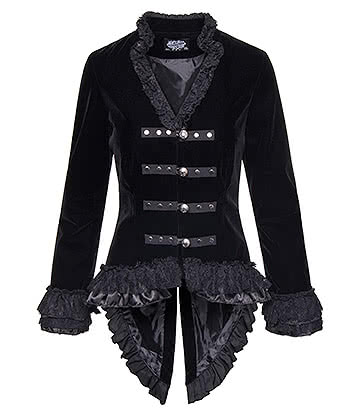 H&R Velvet Victorian Jacket (Black)