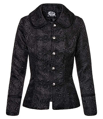 H&R Brocade Military Jacket (Black)