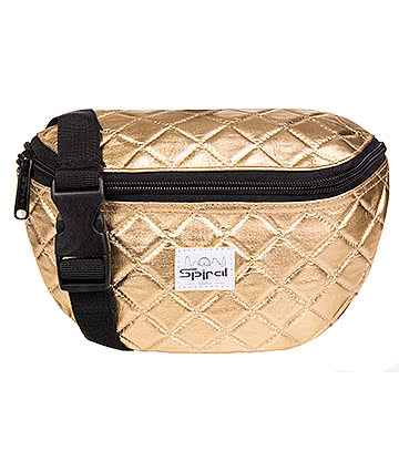 Spiral Quilted Bumbag (Gold)
