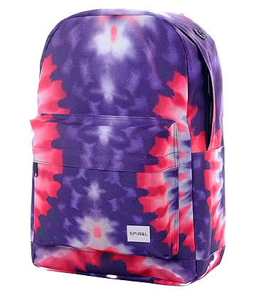 Spiral Acid Tiedye OG Backpack (Purple/Red)