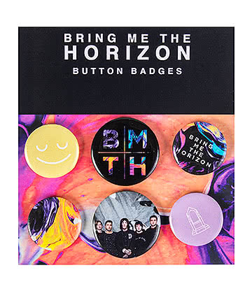 Official Bring Me The Horizon Badge Set (Pack of 6)