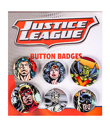 Justice League Badge Set (Pack of 6)