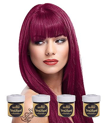 La Riche Directions Colour Hair Dye 4 Pack 88ml (Rubine)