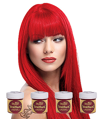 La Riche Directions Colour Hair Dye 4 Pack 88ml (Neon Red)