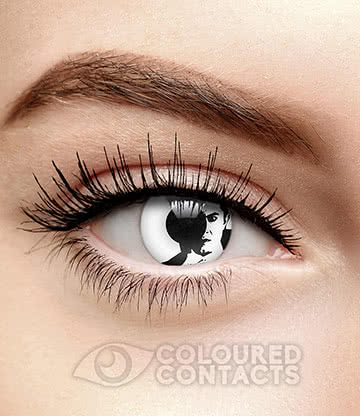 Face Of Dracula 90 Day Coloured Contact Lenses (White)