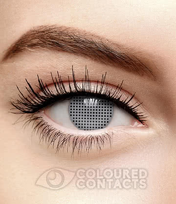 T1000 Terminator 90 Day Coloured Contact Lenses (Silver)