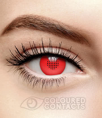 T800 Terminator 90 Day Coloured Contact Lenses (Red)
