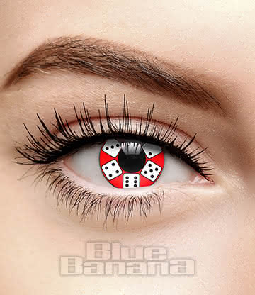 Lucky Dice 90 Day Coloured Contact Lenses (Red)