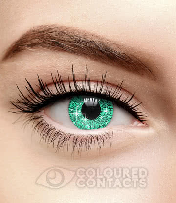 Glimmer 90 Day Coloured Contact Lenses (Aqua)