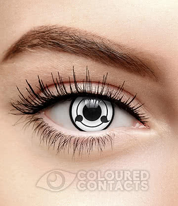 Sharingan 90 Day Coloured Contact Lenses (White)