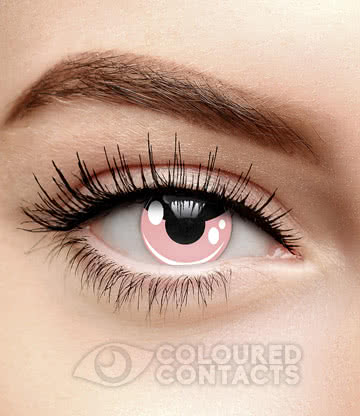 Cosplay 90 Day Coloured Contact Lenses (Pink)