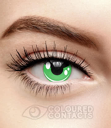 Cosplay 90 Day Coloured Contact Lenses (Green)