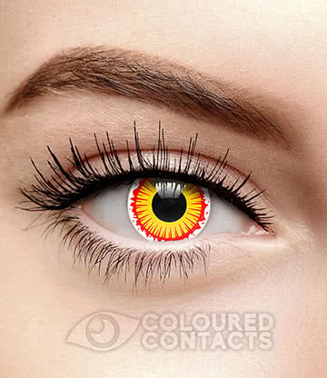 Lost 90 Day Coloured Contact Lenses (Red/Yellow)