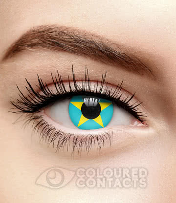 Star 90 Day Coloured Contact Lenses (Blue/Yellow)