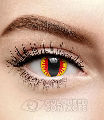 Death Dealer 90 Day Coloured Contact Lenses (Red/Yellow)
