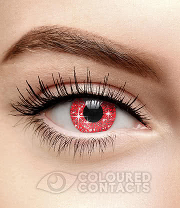 Glimmer 90 Day Coloured Contact Lenses (Red)