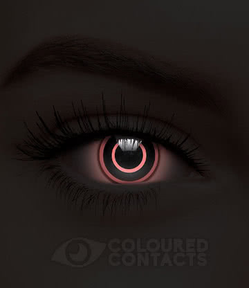 Bullseye UV 90 Day Coloured Contact Lenses (Black/Pink)