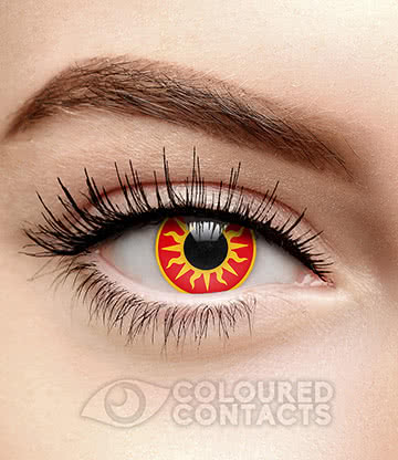 Sunburst 90 Day Coloured Contact Lenses (Red)
