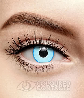 White Ice 90 Day Coloured Contact Lenses (Blue)