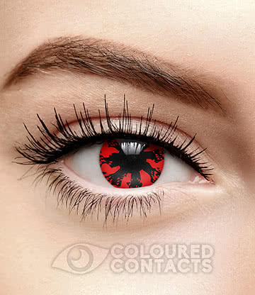 Bastard 90 Day Coloured Contact Lenses (Black/Red)