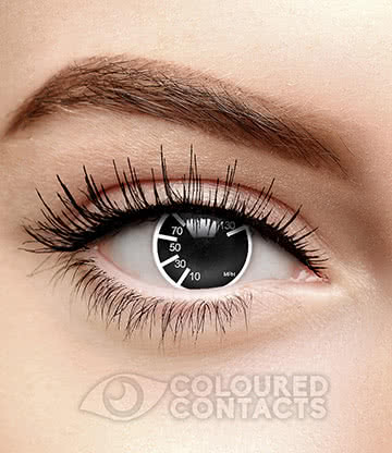 MPH 90 Day Coloured Contact Lenses (Black)