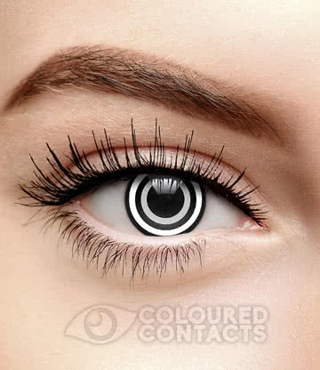Pain 90 Day Coloured Contact Lenses (Black/White)